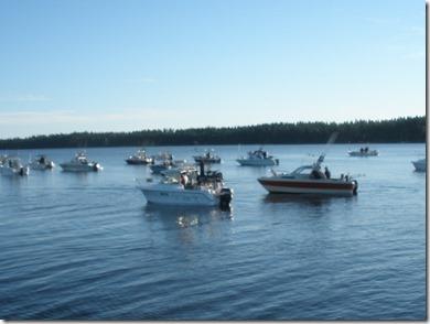 Båtarna redo för start