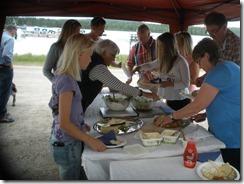 God mat serverades från Olsnäsgården.