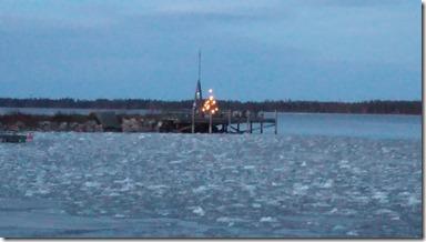 Julgranden på ångbåtsbryggan