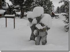 Paret på Holen extra tyngda av snö