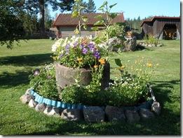 Sivs blomsterarrangemang