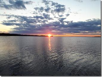 Solnedgång från Ånbåtsbryggan