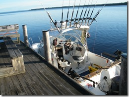 Team Champs of loggongs välutrustade trollingbåt