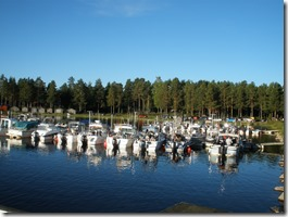 Trollingbåtarna vid bryggorna